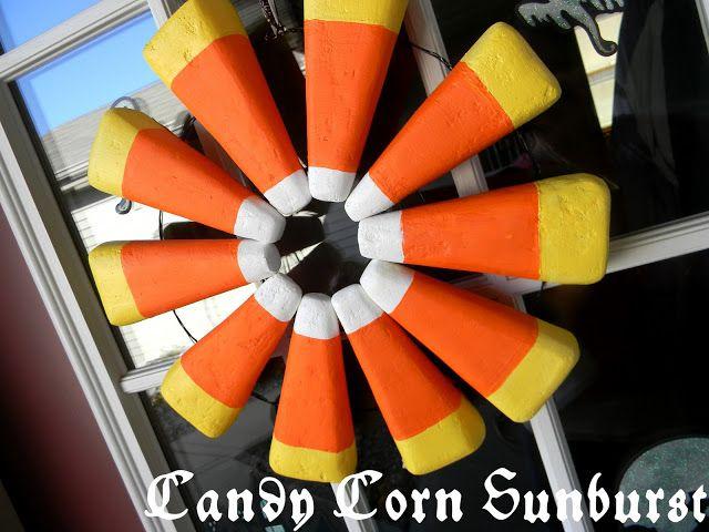 Candy Corn Sunburst Wreath
