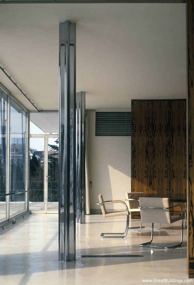 Tugendhat House, Mies van der Rohe,  Brno, 1930
