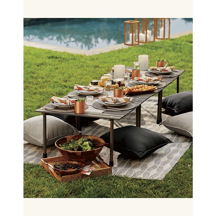 Create a stylish, comfortable space for entertaining with outdoor dining furniture from Crate and Barrel. Browse tables in a variety of styles.