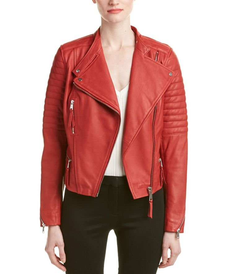 ANDREW MARC Andrew Marc Ryan Leather Moto Jacket'. #andrewmarc #cloth #coats