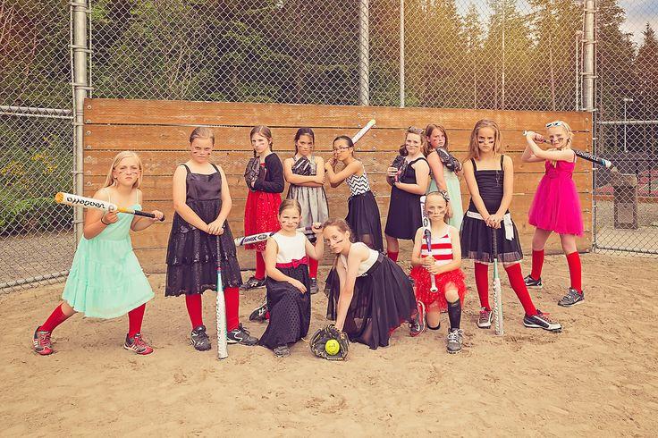 Girls Softball & Dresses www.amywimberphotographydesign.com