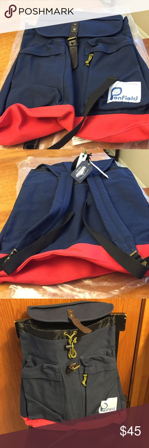 Jcrew Penfield backpack . New Sturdy durable navy with red bottom canvas material Jcrew penfield Bags Backpacks