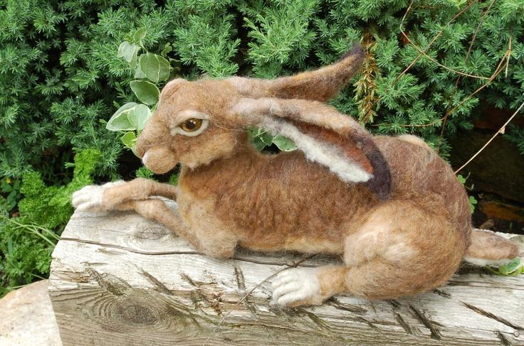 Needle Felted Hare – Life Sized