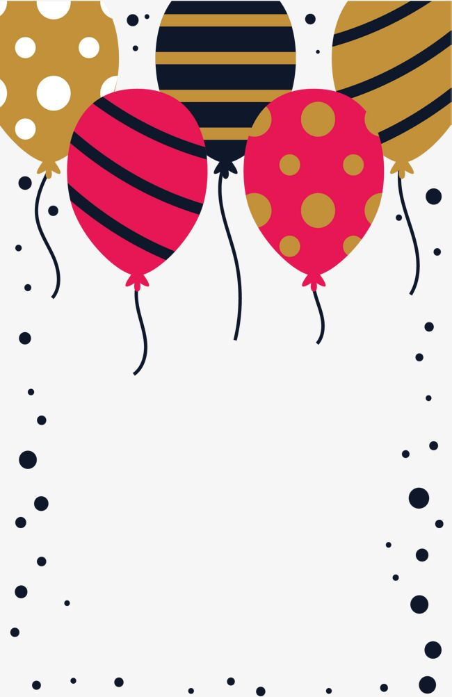 Striped Balloon Decorative Box Feliz Cumpleaños Globos
