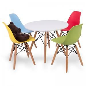 Up & About Kids 5pc Replica Eames Setting - Multi Colour