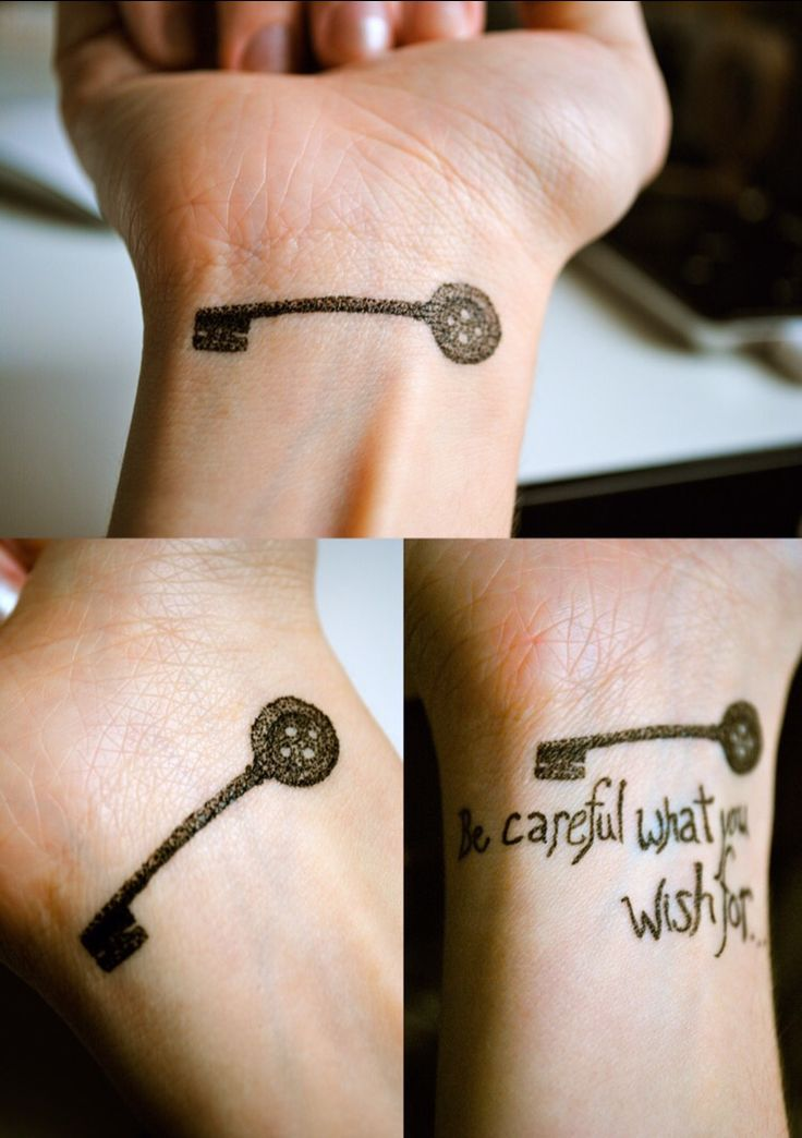 Crappy drawing of the tattoo I want. Coraline button key. Tiny little dots to make a soft and light shape. Obviously the pen I used wasn't tiny enough. And not the words, that was me having fun lol.