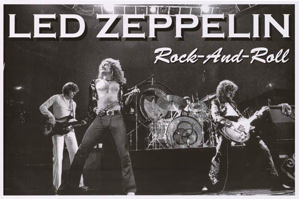 Led Zeppelin Rock and Roll Live Music Poster 24x36