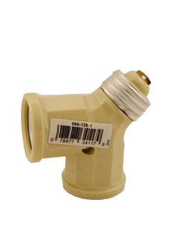 Leviton 128-I 15-Amp 660-Watt Twin Light-Socket Adapter, Ivory Leviton http://www.amazon.com/dp/B001ATG0JU/ref=cm_sw_r_pi_dp_zouLvb18EY53K