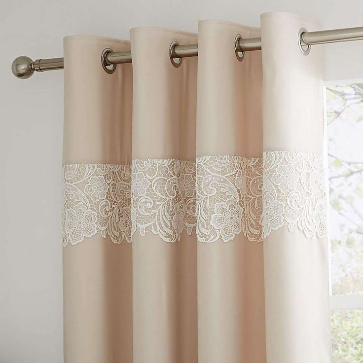 Florence Natural Thermal Eyelet Curtains   Dunelm