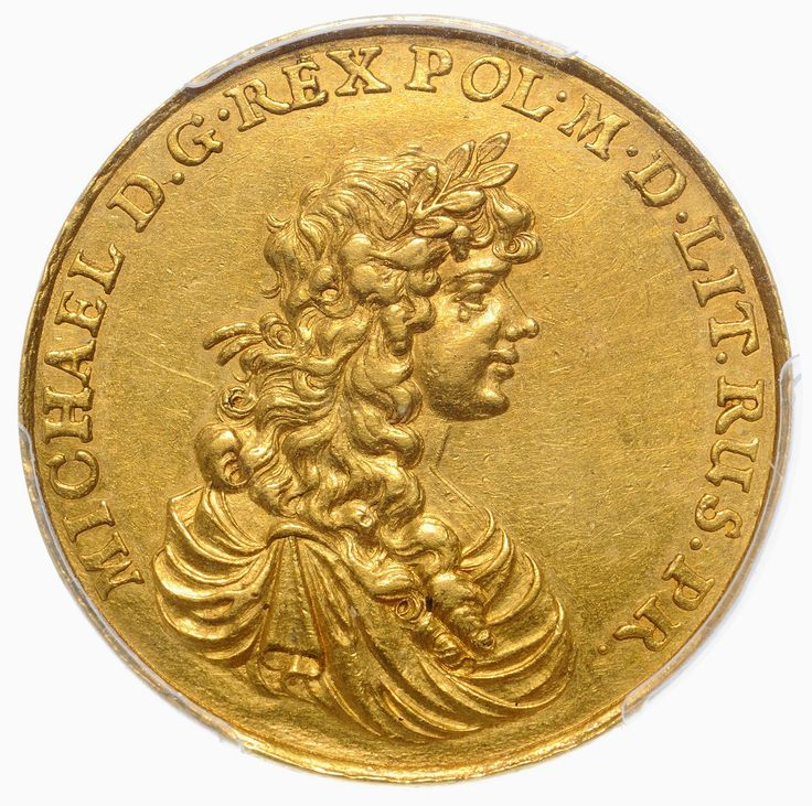 Gold medal of 4-ducats with the bust of Michael Korybut Wiśniowiecki by Jan Buchheim, 1670, Private collection