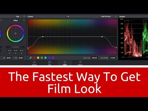The Fastest Way to Get Film Look in DaVinci Resolve - Learn Color Grading