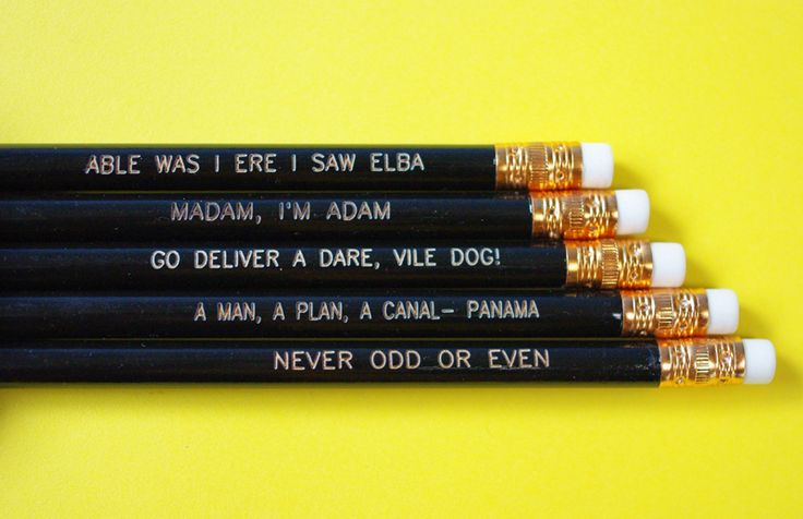 Palindrome Pencils— here