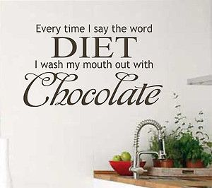Chocolate Quote for the kitchen