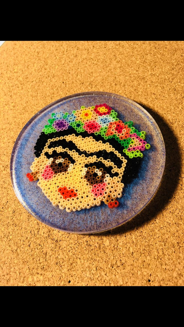Frida Kahlo ❤️ Resin Perler Coaster