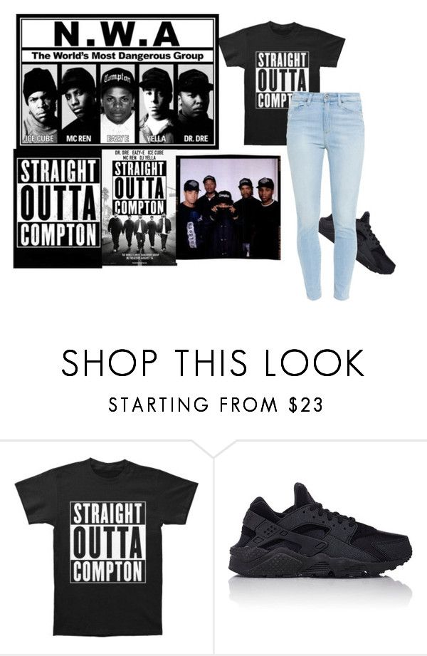 """""""Coming Straight Outta Compton"""" by jacksonkyla-1 ❤ liked on Polyvore featuring NIKE and Paige Denim"""