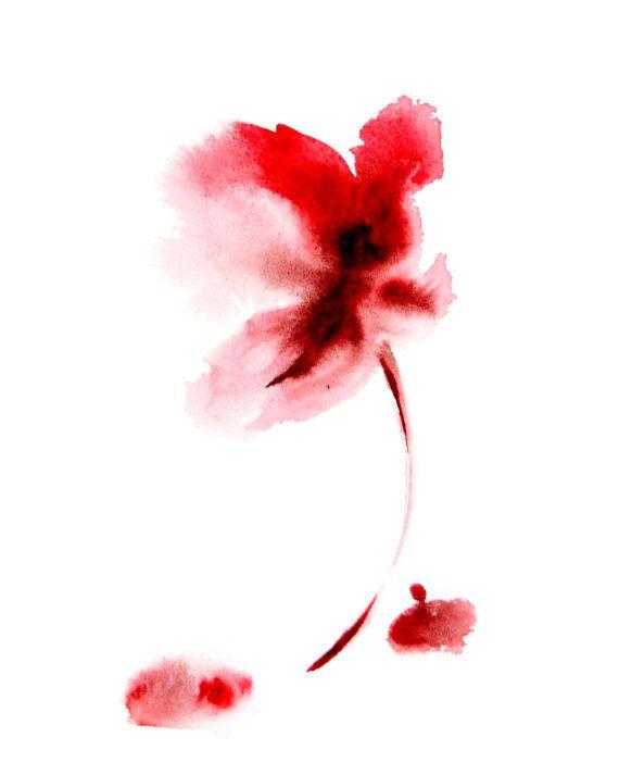 Fiore rosso astratto pittura ad acquerello arte stampa Stampa su carta pregiata da acquerello Acquerello minimalista moderno Wall Art  Stampa su carta a 300 gsm pesante diretto dallartista darte di qualità professionale.  Formato di stampa: 12 x 18 cm (12.5x19 cm)  Firmato e datato sul retro. Firmato in alto Non incorniciato e non arruffati.  Tutte le stampe sono regalo avvolto in un cellophane insert e il supporto di cartone per proteggere al meglio, spediti tramite posta raccomandata…