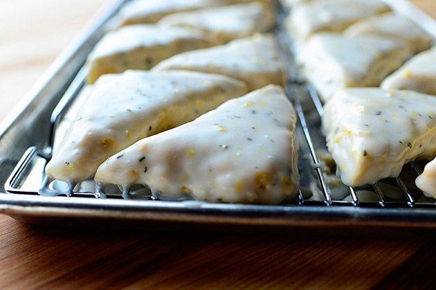 Lemon rosemary scones. Pioneer Woman