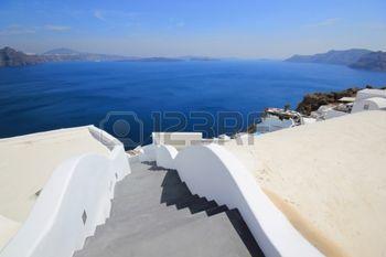grecia: Calles de Grecia de la isla de Santorini