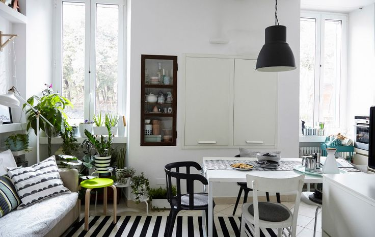 Maximise a small space with a living and dining room in one