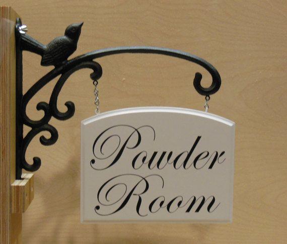 Hanging Powder Room Sign Decorating Powder Room Signs