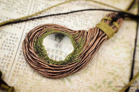 Woodland Magnifying Glass Pendant 3 Nature Lover Necklace Tree