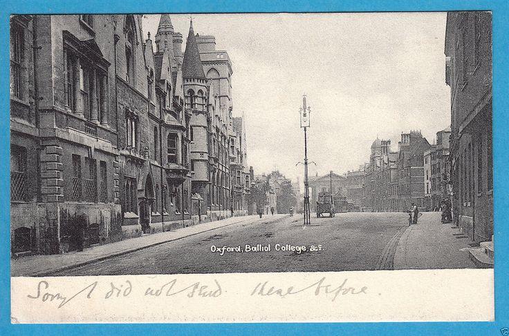 Oxfordshire: Oxford. Balliol College - The Broad/Broad St. - PC PU 1904 (P546)…