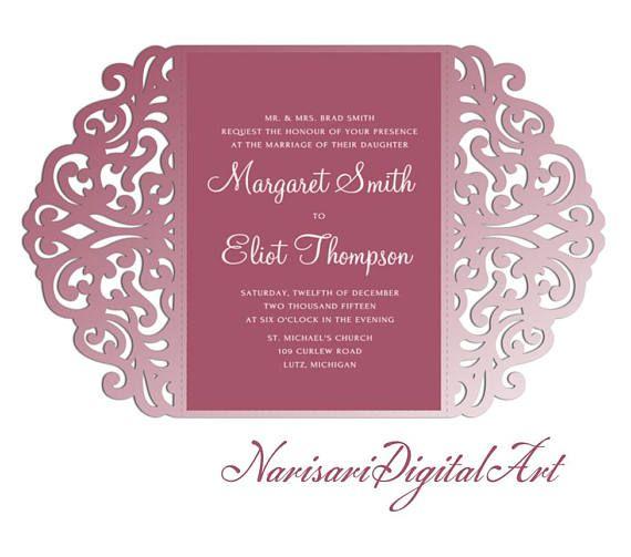 209 best laser cut wedding invitations images on pinterest