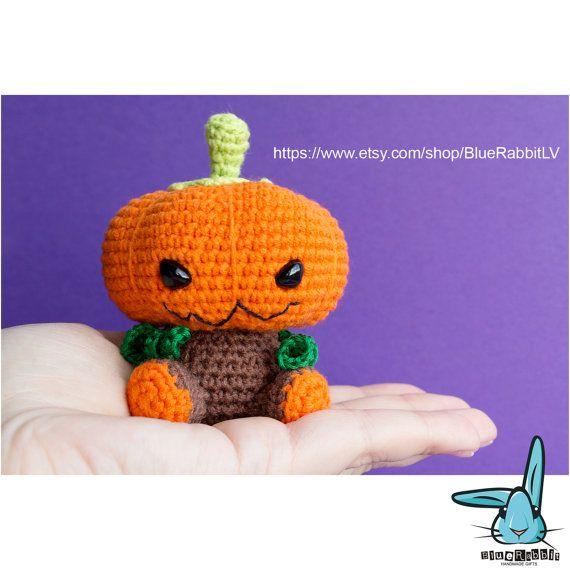 Halloween Pumpkin  amigurumi crochet pattern. от BlueRabbitLV