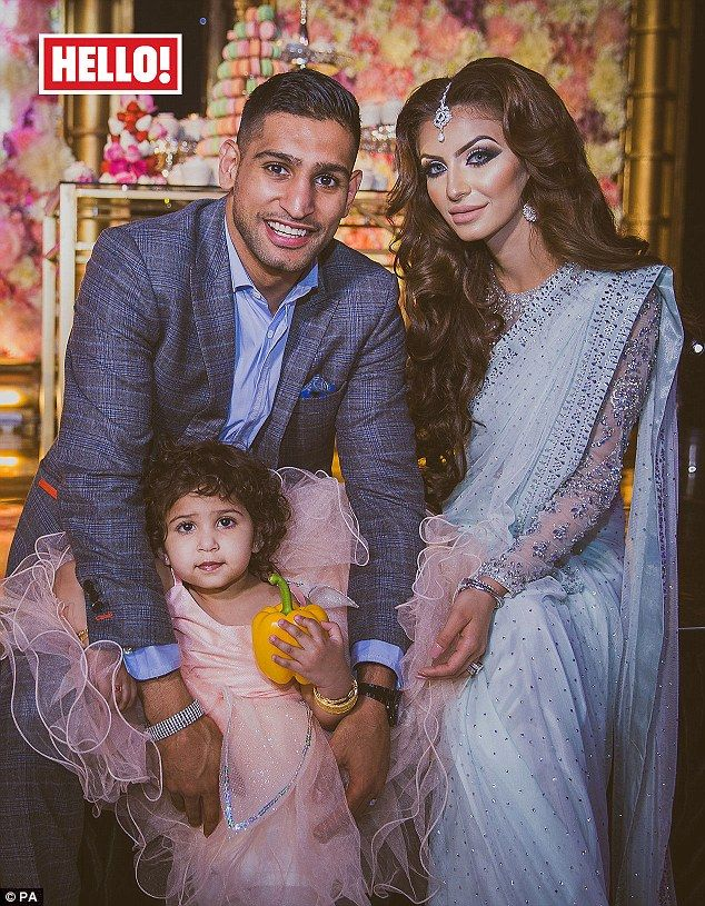 Extravagant: Boxer Amir Khan and his wife Faryal spent £100,000 on their daughter Lamaisah's 2nd birthday last month