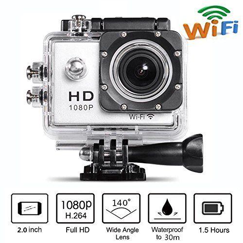 camera sport sd toshiba camileo clip 1080p blanc