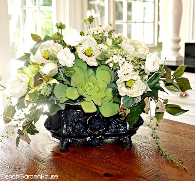 Country Flower Centerpiece : Best french country floral arrangements images on