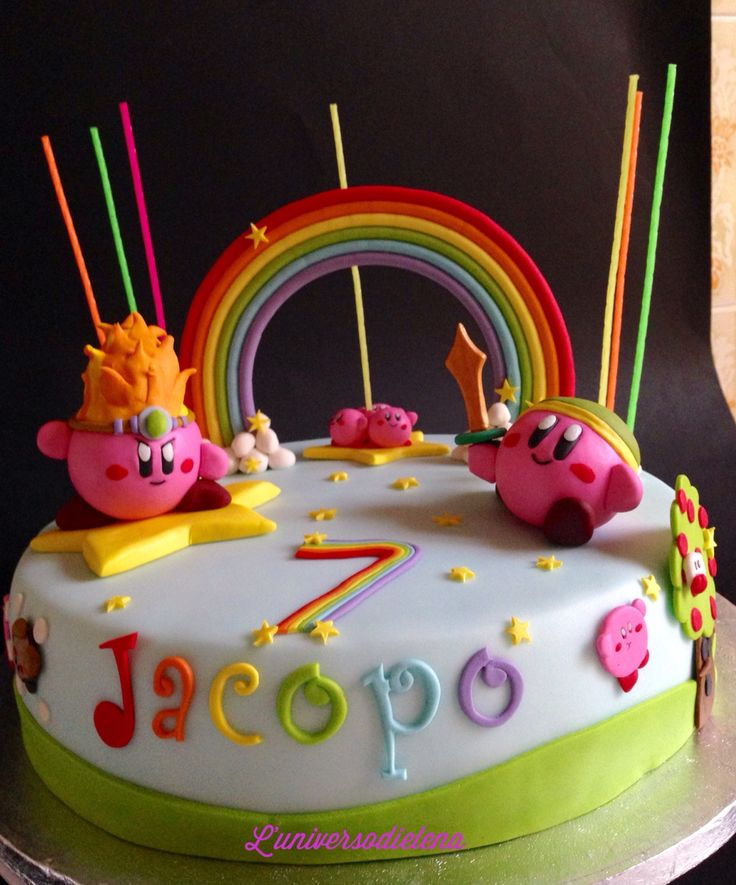 9 Best Kirby Themed Birthday Party Images On Pinterest