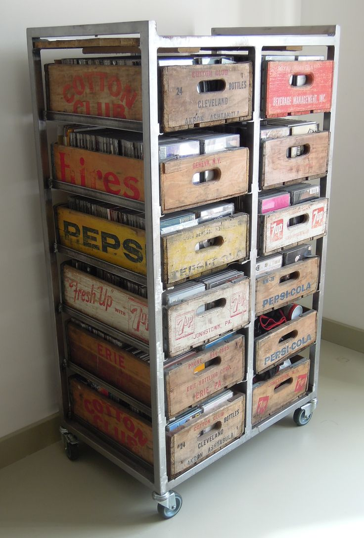wooden crate craft display - Google Search