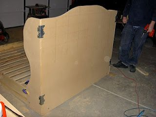 Make your own wingback headboard