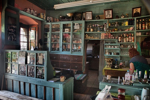 traditional interior of a kafeneion at kalarrytes ioannina