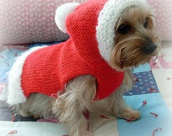 SANTA PAWS Custom CHRISTMAS Dog Sweater -- Hand Made -- Hoodie -- All Sizes