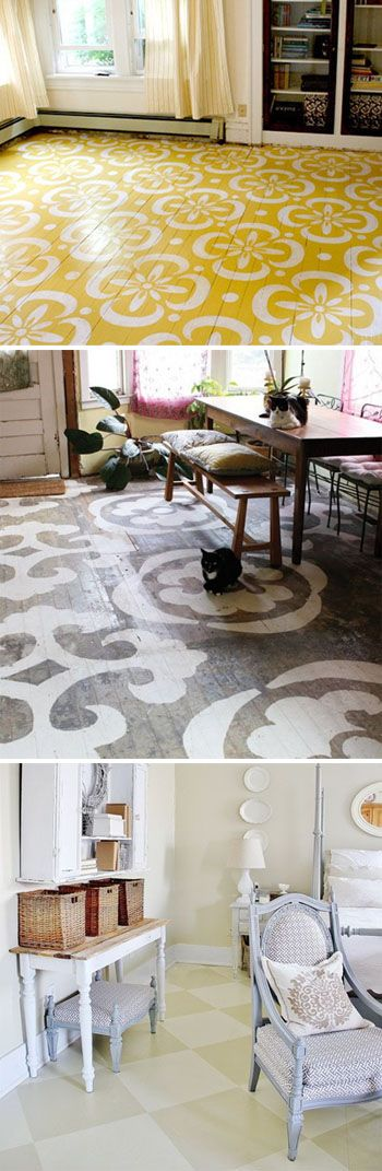 No need for a floor rug... just paint your giant pattern onto the floor!