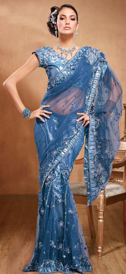 Lehenga Style Saree.  Indian dress (women)