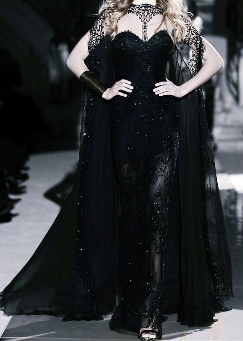This is the perfect evil queen dress! #black