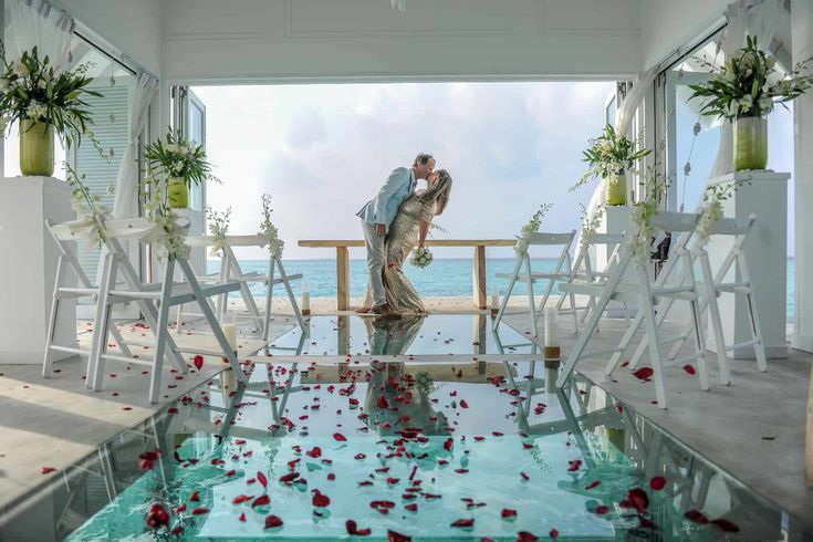 Gorgeous Maldives Wedding Vow Renewal at Over Water Pavilion