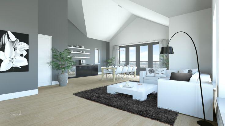 Licht woonkamer ontwerp van Katarzyna Kraszewska | Interieur ...