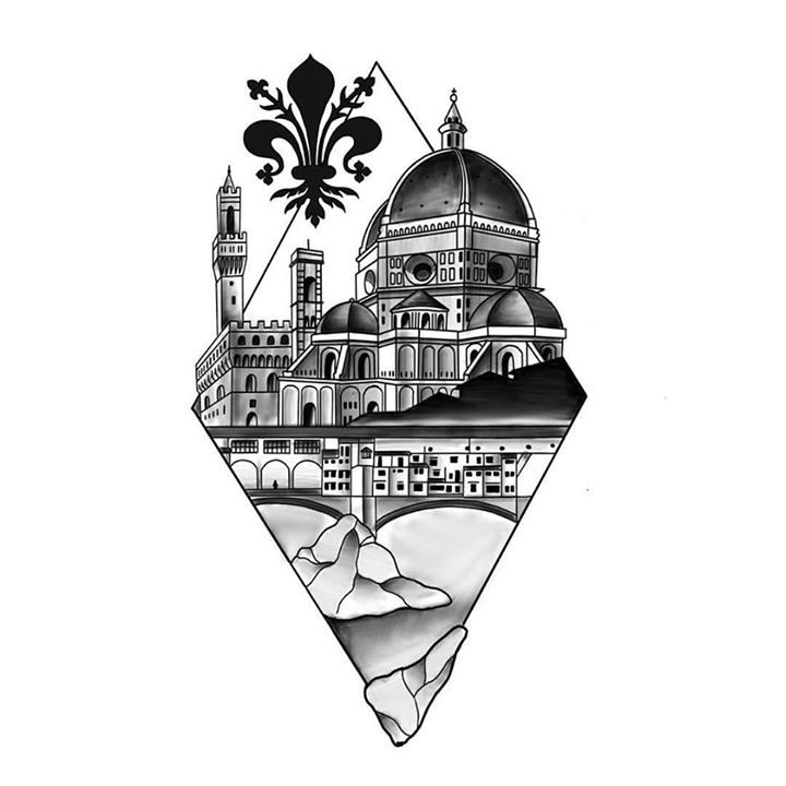 Sketch for a tattoo of my FAVORITE city in the world #florence #italy - http://ift.tt/1HQJd81