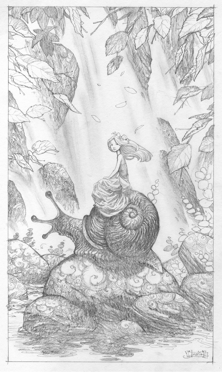 Justin Gerard's lovely pencil work.