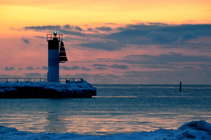 Winter Sunrise; Lighthouse Silhouette Against Magical Sunrise; Nature at its Finest; Fine Art Photograph; Custom Orders Available by MissmacMemories on Etsy