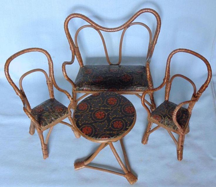 Spectacular Vintage set of large dolls house living room furniture Wohnzimmer M bel Puppenh user Barbie