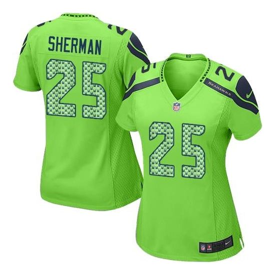 Nike Richard Sherman Seattle Seahawks Women's Limited Alternate Jersey - Green