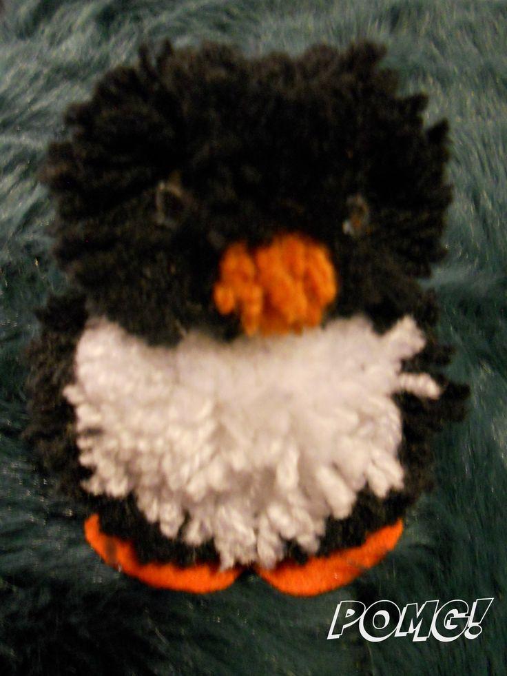 penguin pom pom facebook.com/pomgpompoms #penguin #penguinpompom