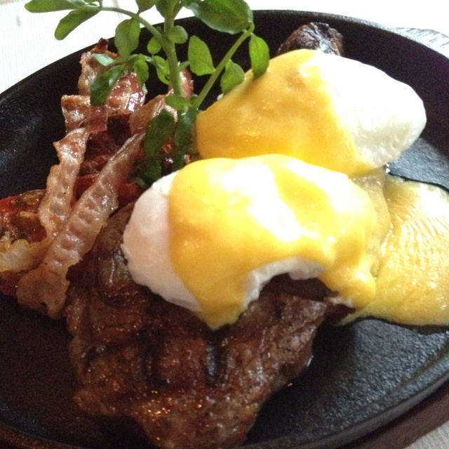 Steak with Egg Benedict @ The Oak Door