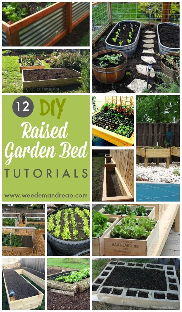 12 DIY Raised Garden Bed Tutorials