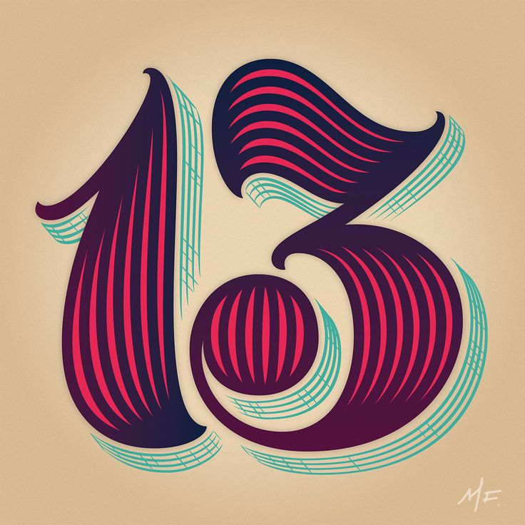 """""""Typography & Lettering Advent Calendar Day 13: Martina Flor Originally from Buenos Aires and now living in Berlin, Martina's type and lettering projects will be familiar to many."""" Big, fat, and juicy!"""